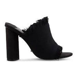 Tony Bianco Bacardi Black Fringe Osaka Mule Heels